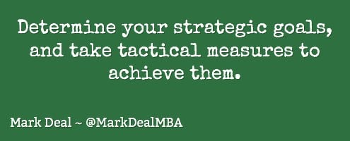 strategic goals, tactical actions