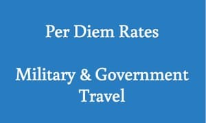 per diem rates military and government travel