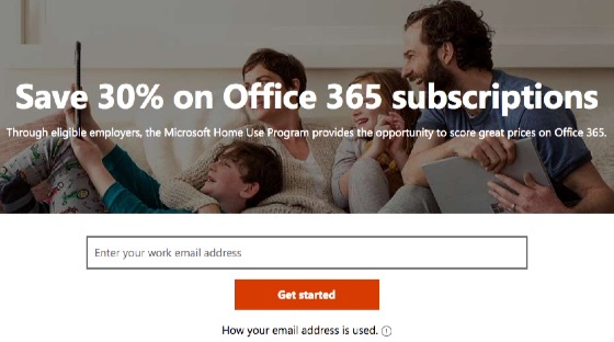 Microsoft Home Use Program Office 365 Discount