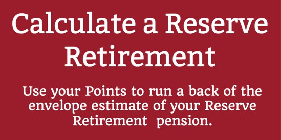 Using Points to Calculate a Reserve Retirement