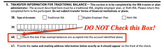 How to Rollover TSP Tax-Exempt Contributions - Full Transfer