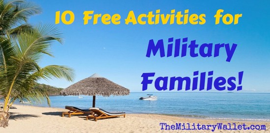 Free activities for military families