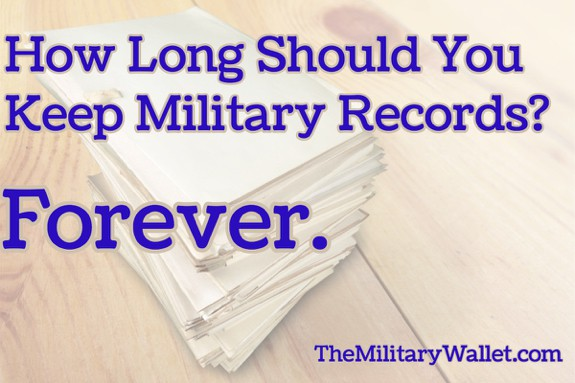 Keep Military Records Forever