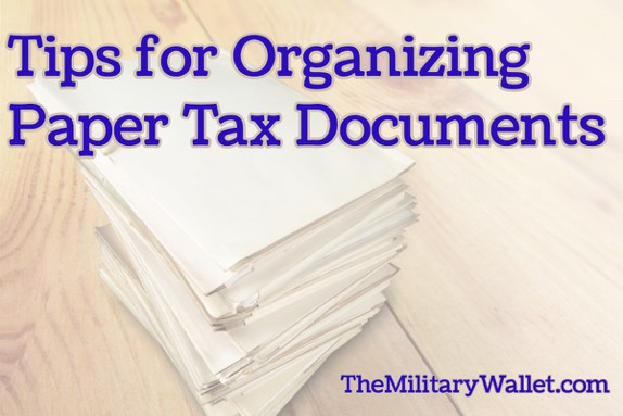 Organizing Paper Tax Documents