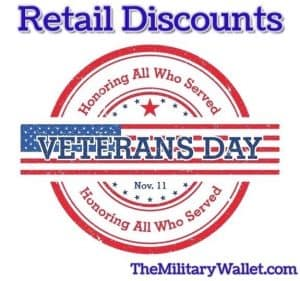 2018 Veterans Day Freebies, Retail Discounts, and Special Offers