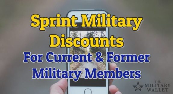 Sprint Military Discount - Available for Military Members