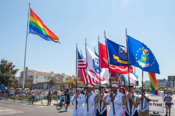 Color Guard at Pride Parade